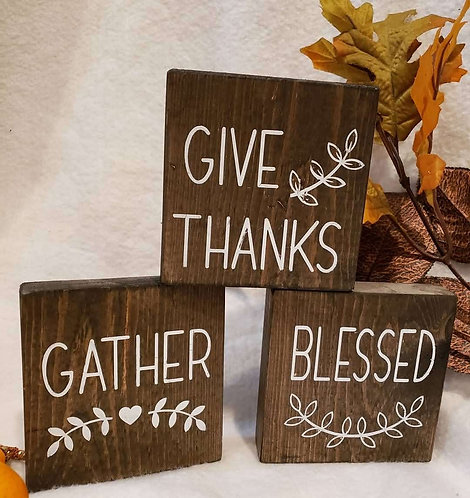 Give Thanks, Gather, Blessed - Set of three