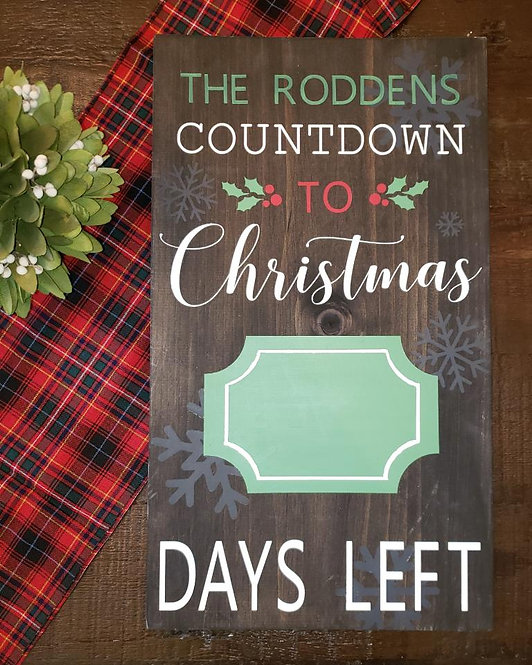 Personalized Christmas Countdown