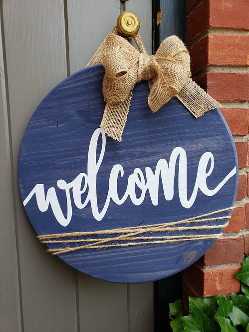 Welcome with Burlap Bow