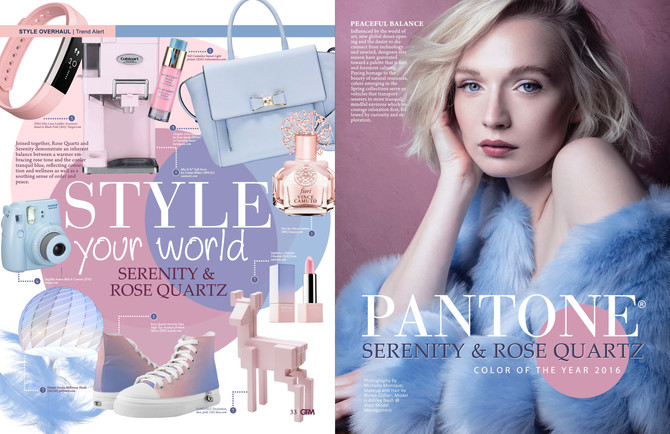 Pantone Color of the year 2016 - serenity and rose quartz
