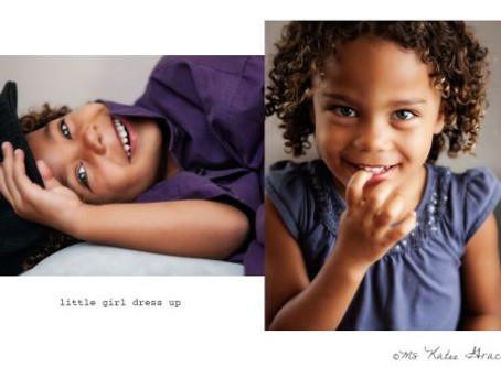 Los Angeles Family Photographer | little girl dress up