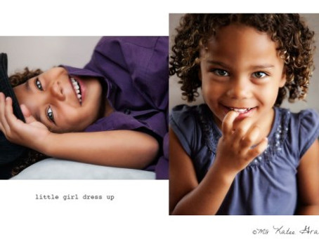 Los Angeles Family Photographer | little girl dress up