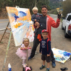 Nick and kids painting Soft Bend