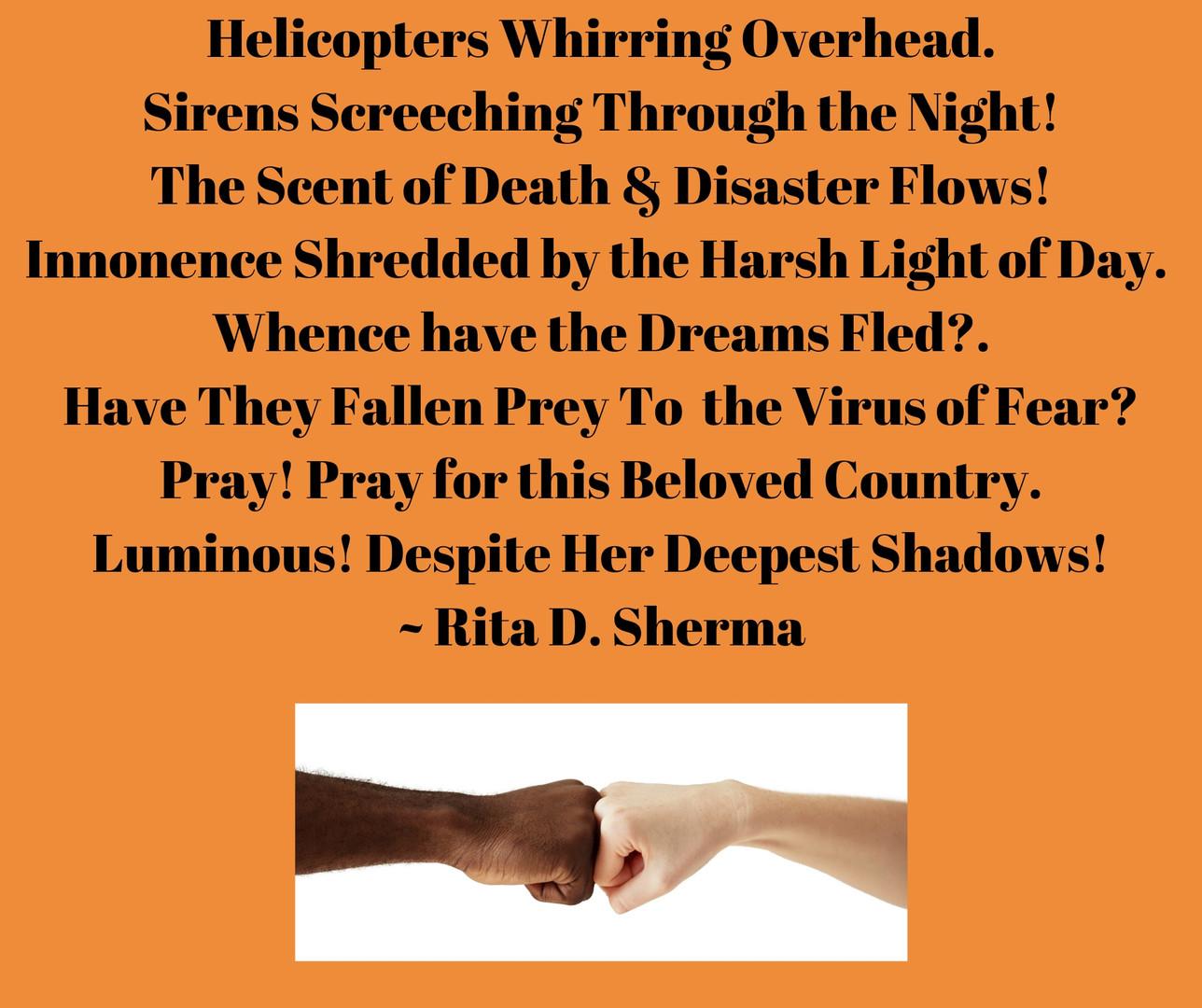 Poem by Rita D. Sherma