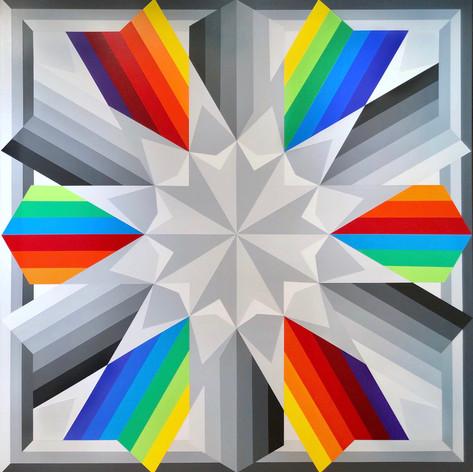 Fariba Abedin: Geometry #206 Corona Days