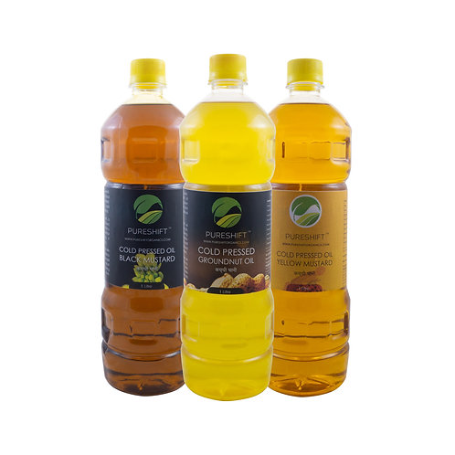 Cold Pressed Combo - Groundnut, Black Mustard, Yellow Mustard