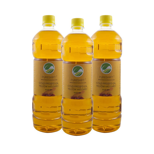 Cold Pressed Yellow Mustard Oil - 3 Litre