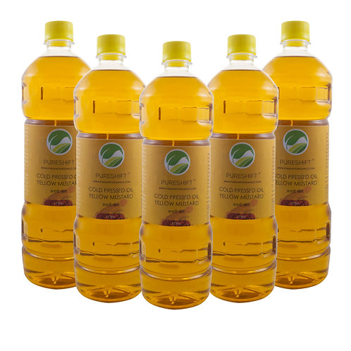 Cold Pressed Yellow Mustard Oil - 5 Litre