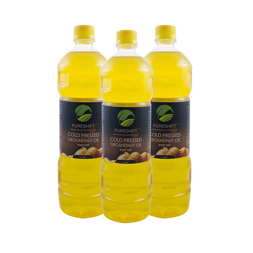 Cold Pressed Groundnut Oil - 3 Litres