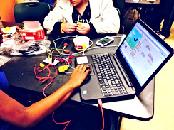 Teaching urban high school youth interaction design and e-textiles with digital and physical responsiveness (2014-15)
