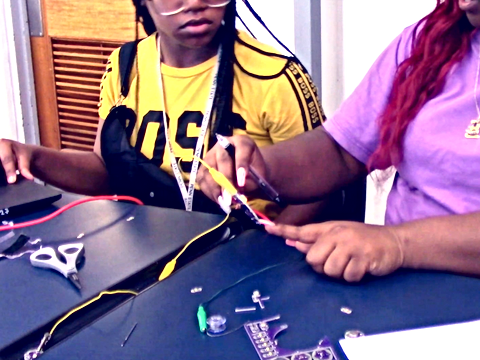 Teaching rural, high school youth participating in federal TRiO programs interaction design and e-textiles with digital and physical responsiveness (2017-18)