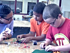 Teaching elementary and middle school youth interaction design and e-textiles with digital and physical responsiveness (2017-18)