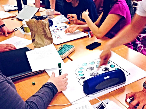 Penn graduate students designing learning game prototypes during one of my classes (2014)
