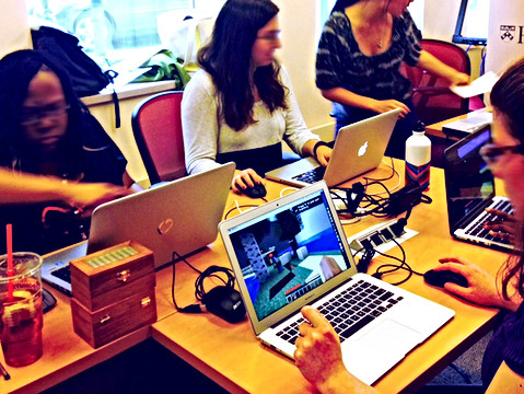 Penn graduate students exploring how Minecraft can be used in education