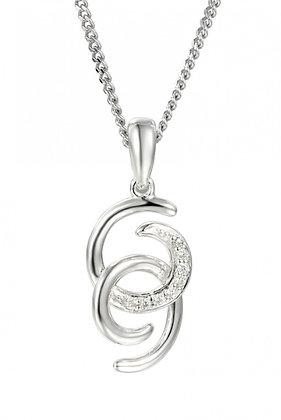 Silver cz pendant