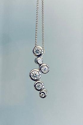 Silver bubble pendant