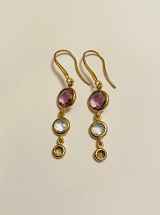 Multi-gemstone earrings