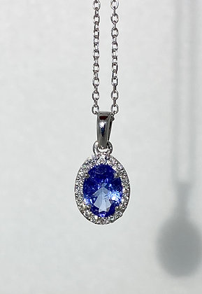 18ct white gold tanzanite pendant