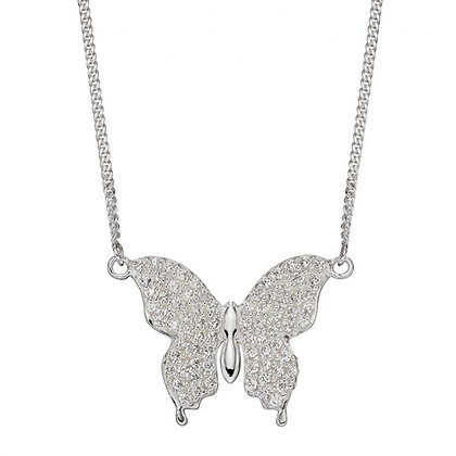 Silver butterfly necklet
