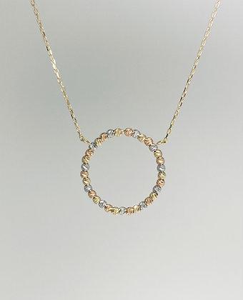 9ct three-colour necklet