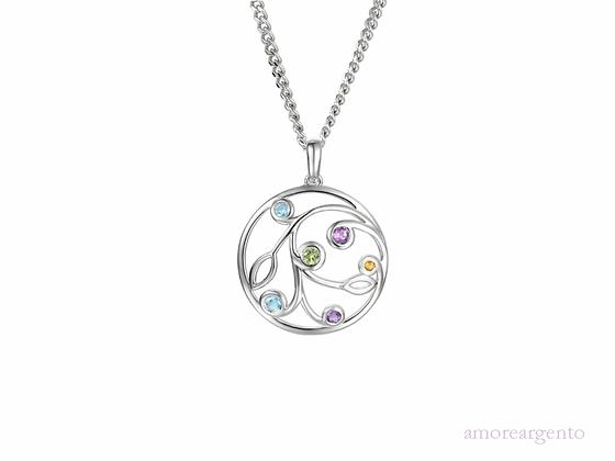 Sterling silver gemstone pendant