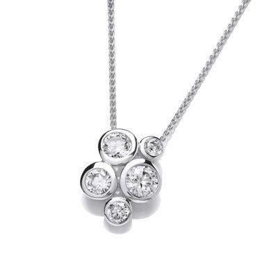 Silver bubble style pendant