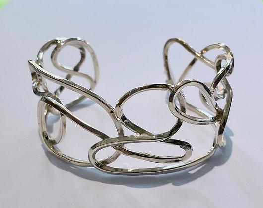 Silver cuff bangle