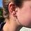 Thumbnail: Silver heart drop earrings