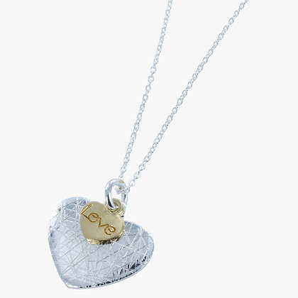 Heart and love pendant