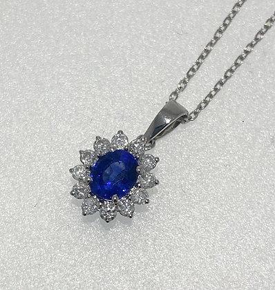 18ct sapphire/diamond pendant