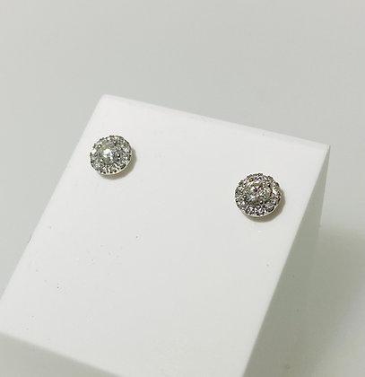18ct diamond halo studs
