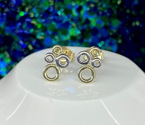 9ct 'bubble' stud earrings
