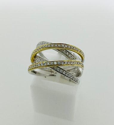 18ct yellow/white gold diamond ring