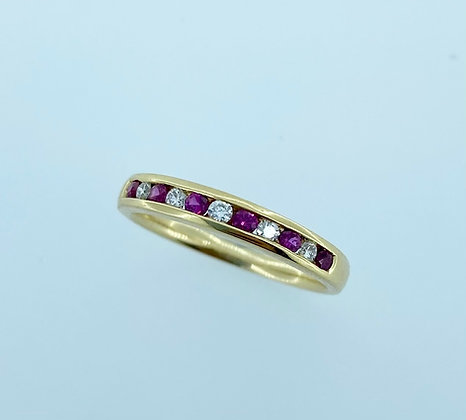 18ct yellow ruby/diamond ring