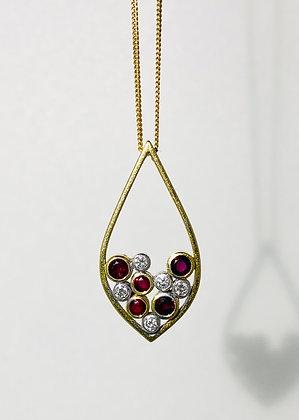 18ct ruby and diamond pendant