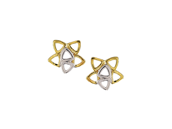 9ct two colour earrings
