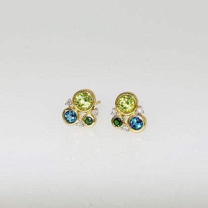 9ct multi stone earrings