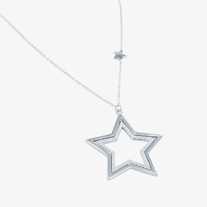 Spinning star necklace