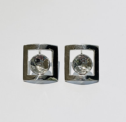 Circle in square studs