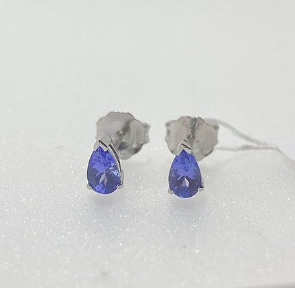 9ct white gold tanzanite earrings