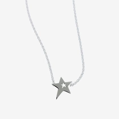 Silver star necklet