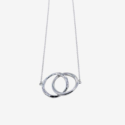 Twin ring necklace