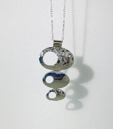 Silver ovals pendant