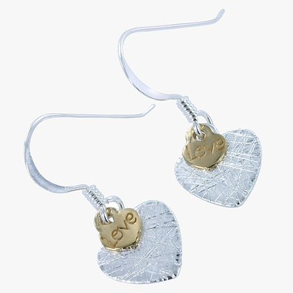 Heart and love earrings