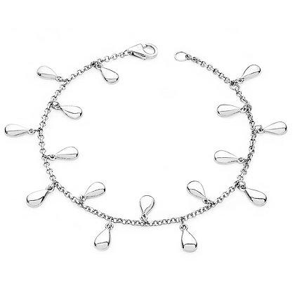Silver tear drop bracelet