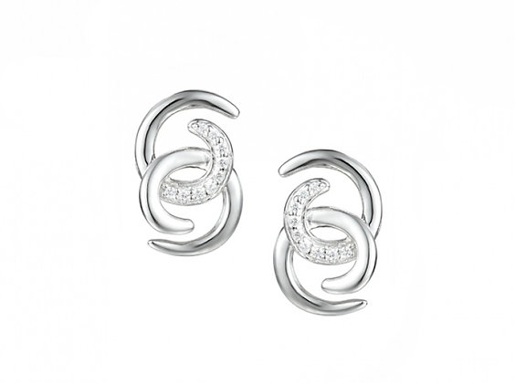 Silver cz earrings
