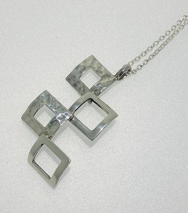 Silver squares pendant