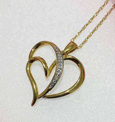 9ct heart pendant