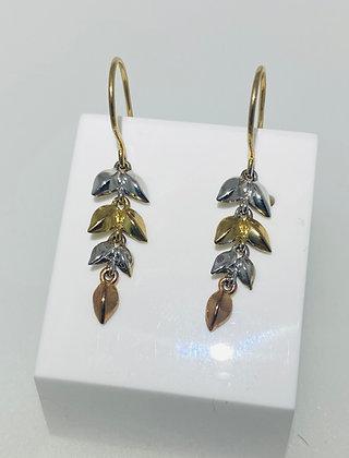 9ct drop earrings