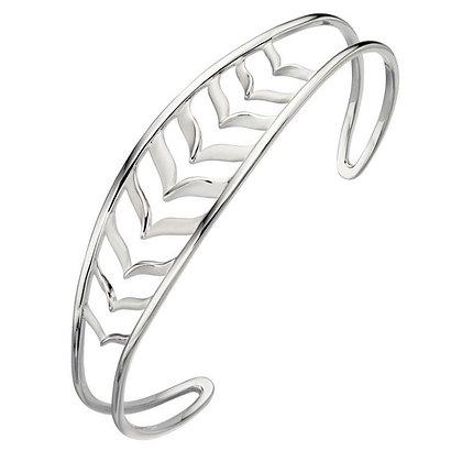 Fishbone bangle